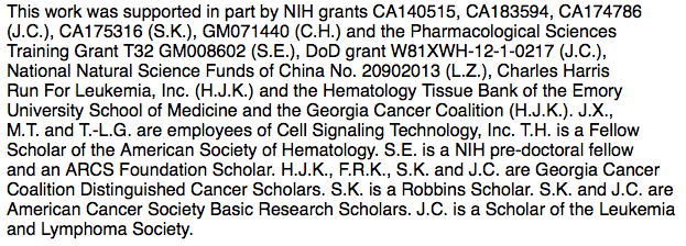 Many sources of research support to acknowledge.